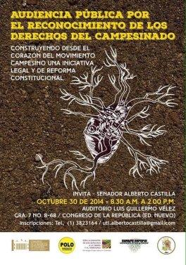 Desde el corazón del movimiento campesino - proyecto Ley Castilla